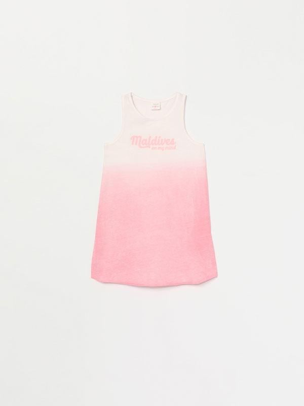 Dip-Dye print dress