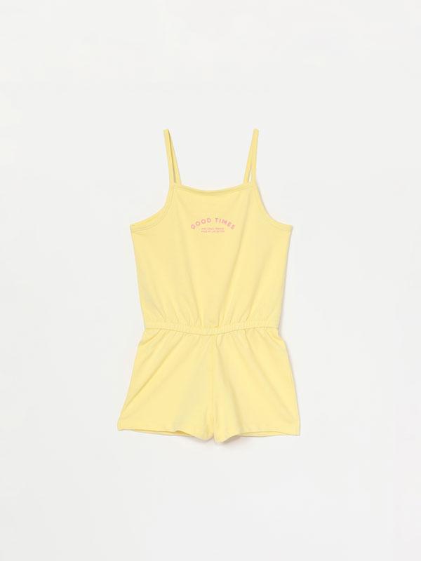Short strappy jumpsuit