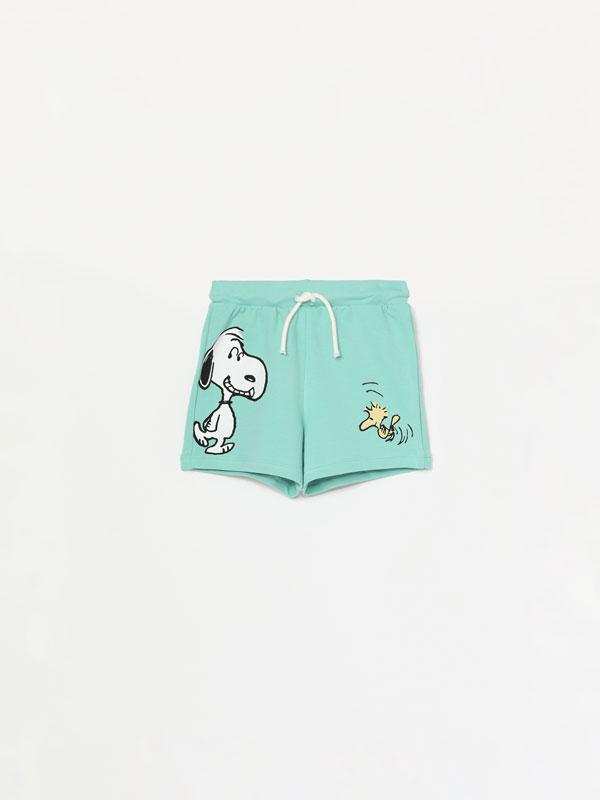 Snoopy Peanuts™ plush Bermuda shorts