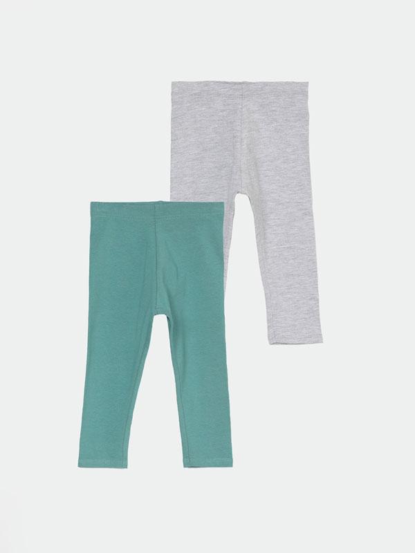 2-Pack of long basic leggings