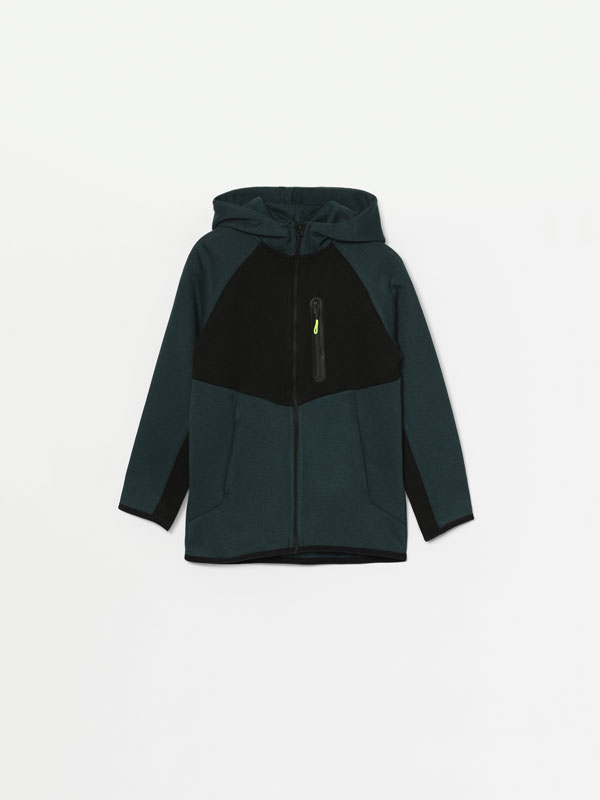 Hooded tracksuit jacket