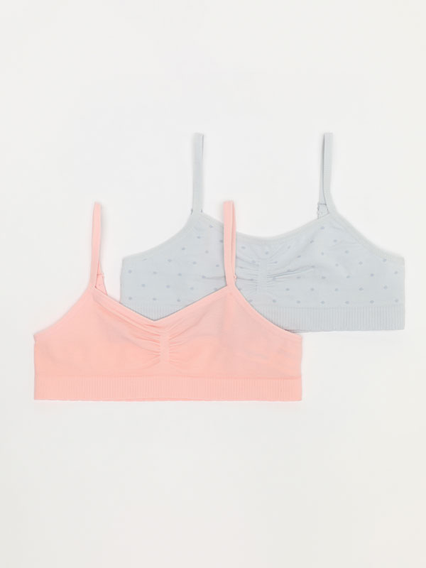 Pack of 2 basic seamless strappy tops