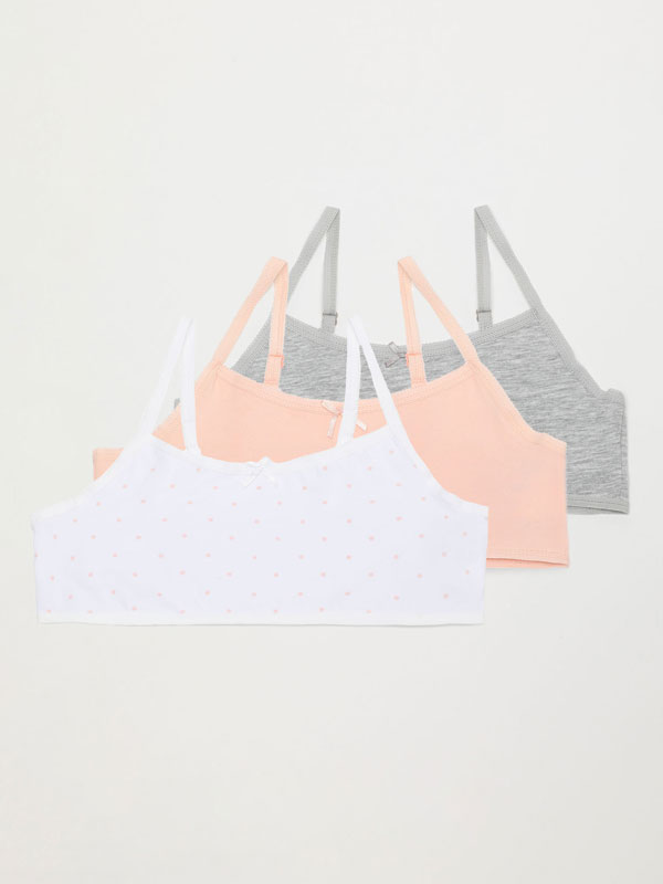 3-Pack of basic strappy tops