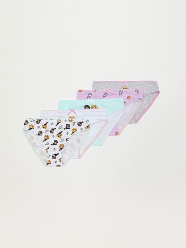 Pack of 5 pairs of HARRY POTTER © &™ WARNER BROS print briefs