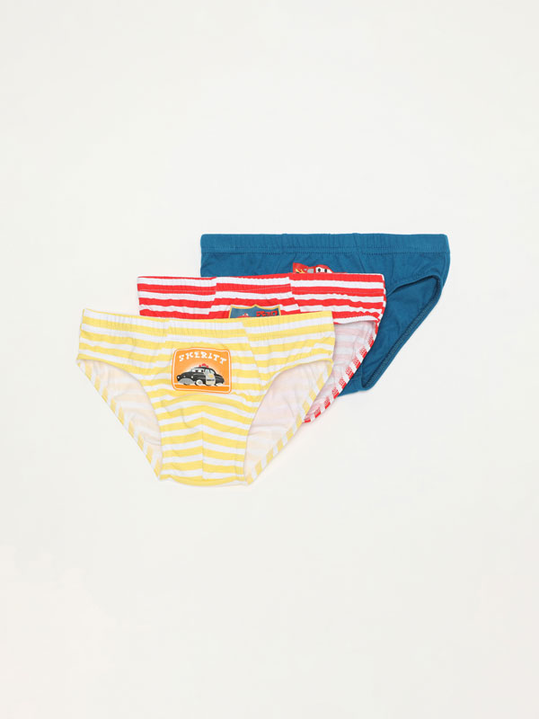 Pack of 3 pairs of Cars ©Disney briefs