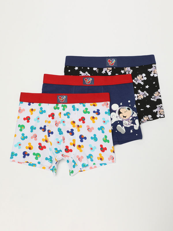 3-Pack of Mickey Mouse ©DISNEY print boxers