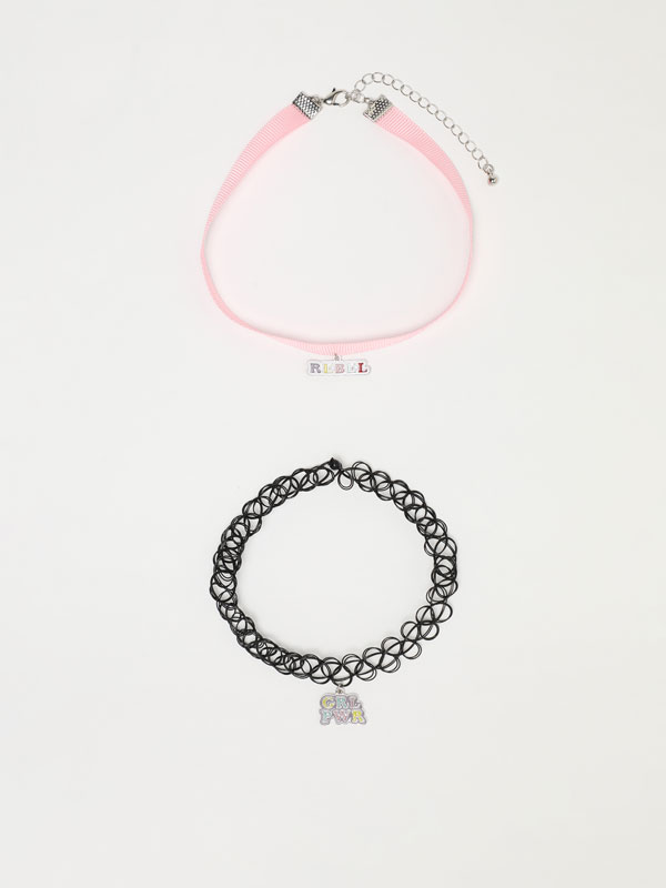 2-pack of girl chokers
