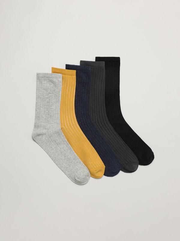 Pack de 5 pares de meias compridas básicas