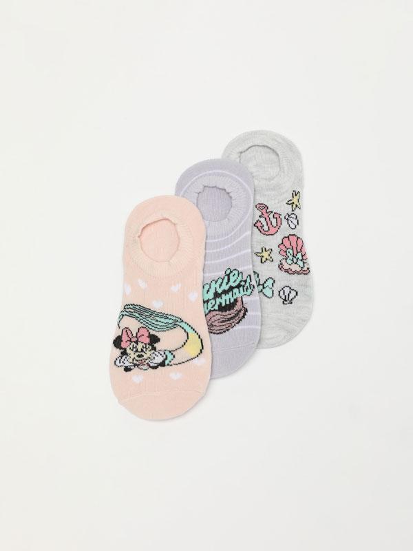 Pack de 3 pares de meias de tipo invisível da Minnie ©Disney.