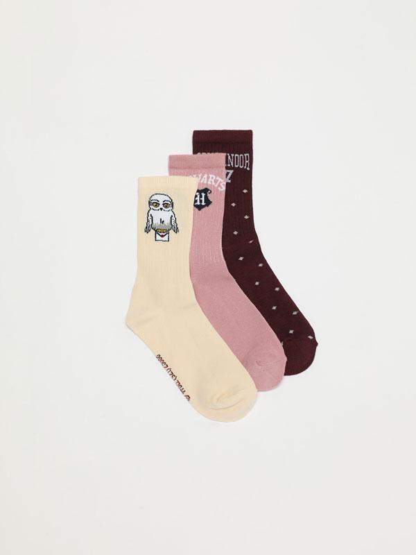Pack of 3 pairs of long HARRY POTTER © &™ WARNER BROS socks