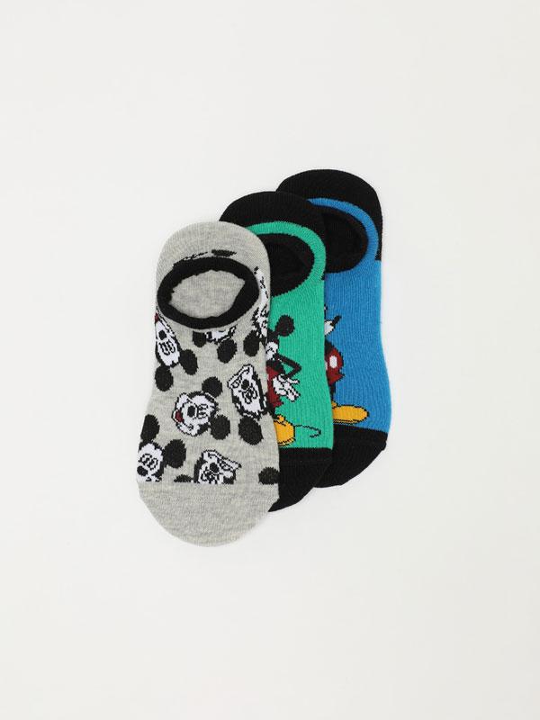 Pack de 3 pares de meias de tipo invisível de Mickey ©Disney