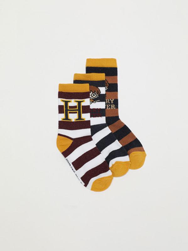 Pack of 3 pairs of Harry Potter © &™ WARNER BROS long socks