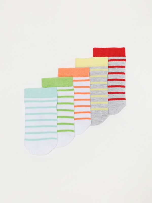 Pack de 5 pares de calcetines de rayas
