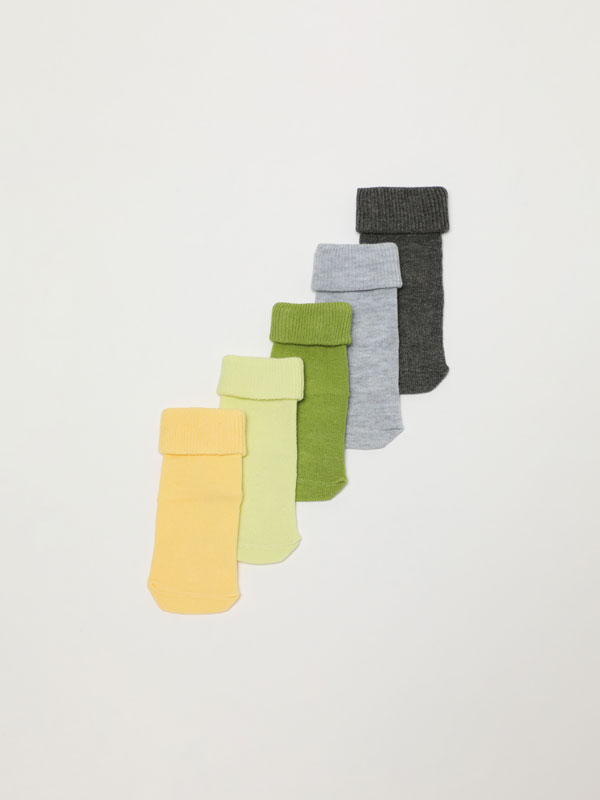 Pack 5 pares de calcetines antideslizantes