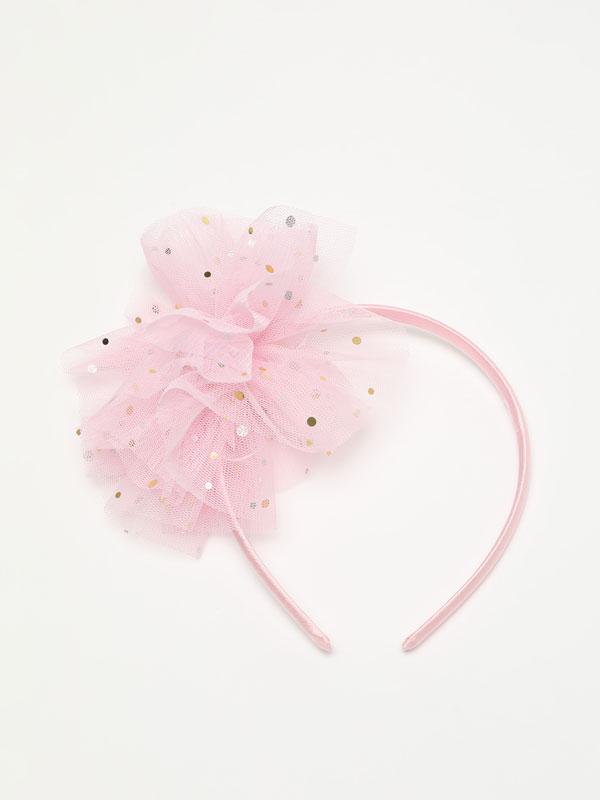 Headband with tulle tassel