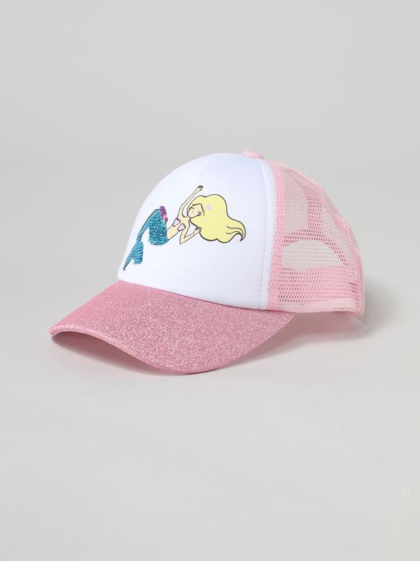 Sparkly mermaid cap