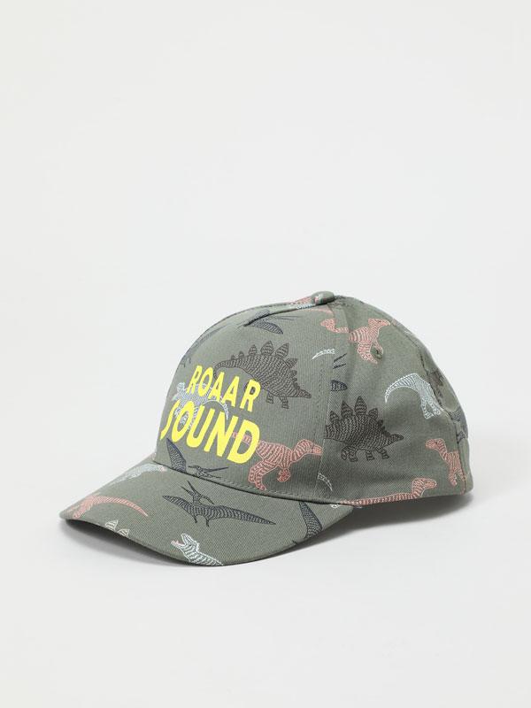 Dinosaur print cap