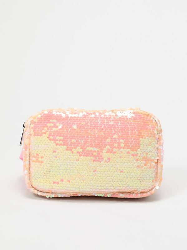 Sequinned belt bag