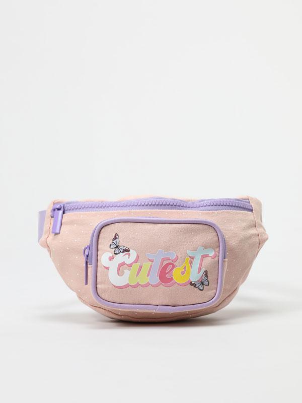 Printed fabric belt bag