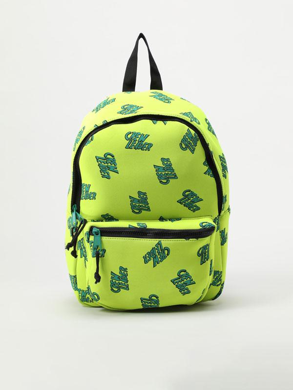 Neoprene print backpack
