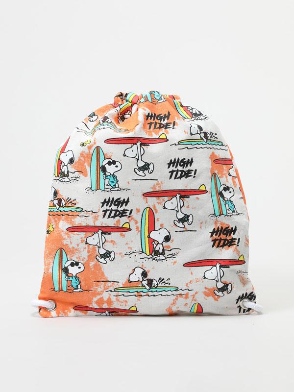Snoopy Peanuts™ tie-dye bucket backpack