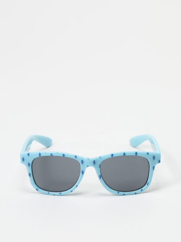 Lightning print sunglasses