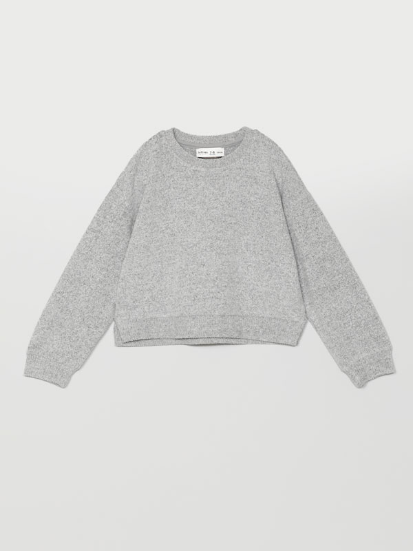 Soft-touch knit sweater
