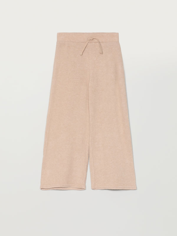 Soft-touch knit trousers