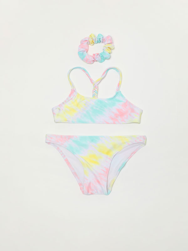 Tie-dye 3 piece swimwear set