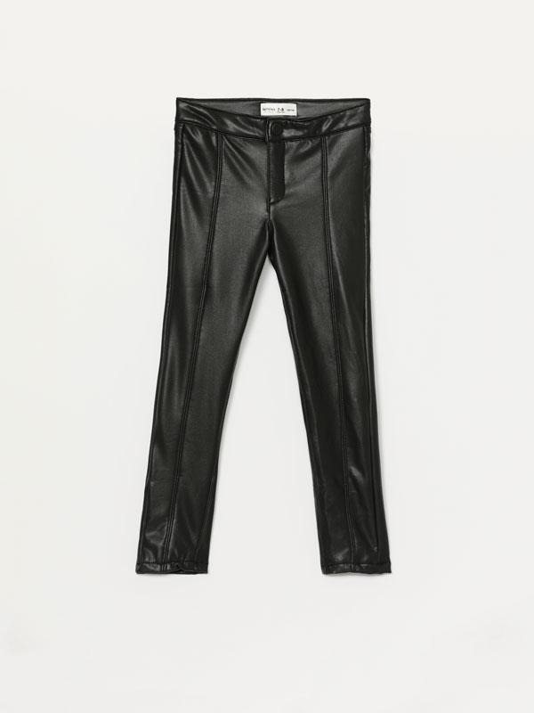 Pantalons efecte pell