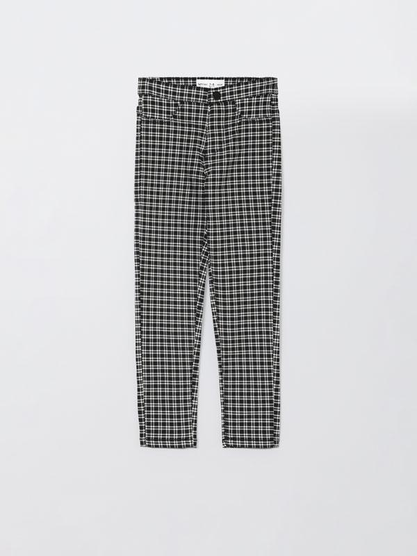 Pantalons amb estampat de quadres