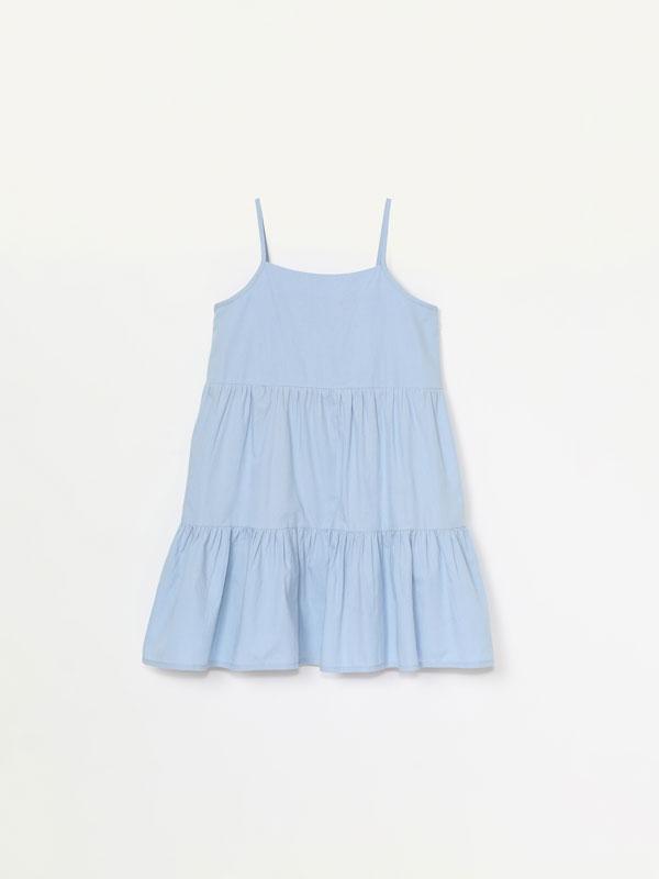 Strappy poplin dress