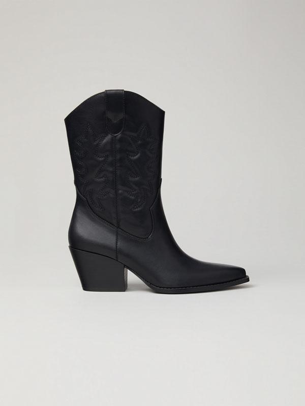 High-heel cowboy boots