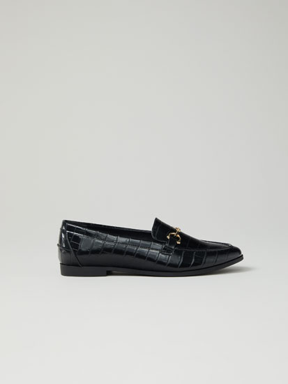 Animal texture loafers