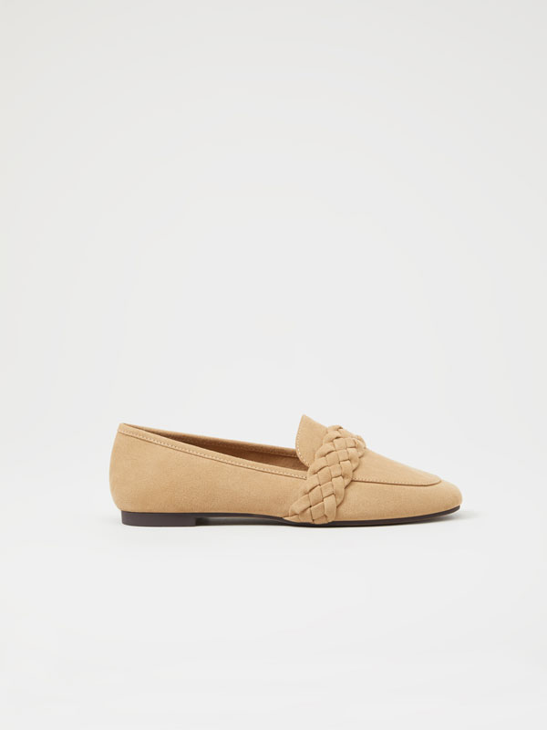 Cable-knit loafers