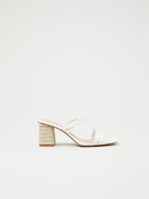 Jute heeled sandals