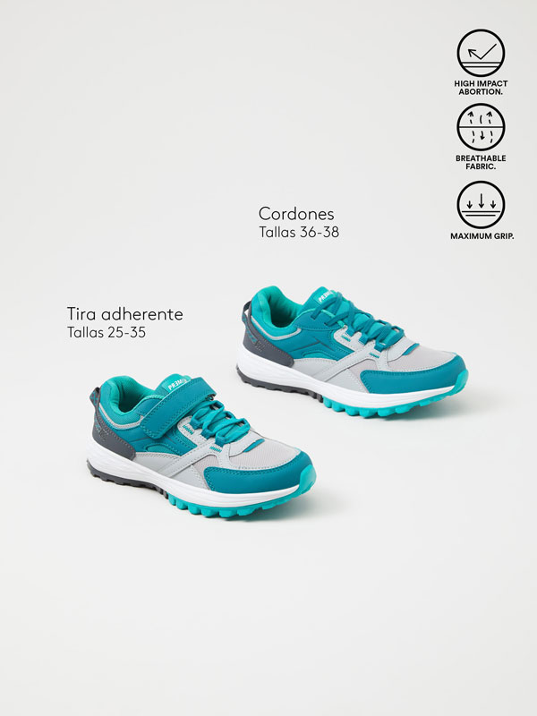 Track sole sneakers