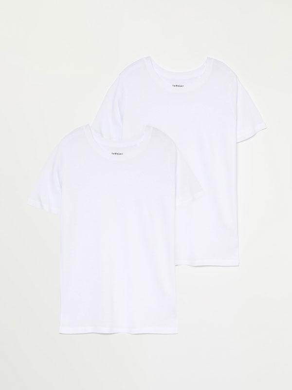 Pack de 2 t-shirts básicas com decote redondo