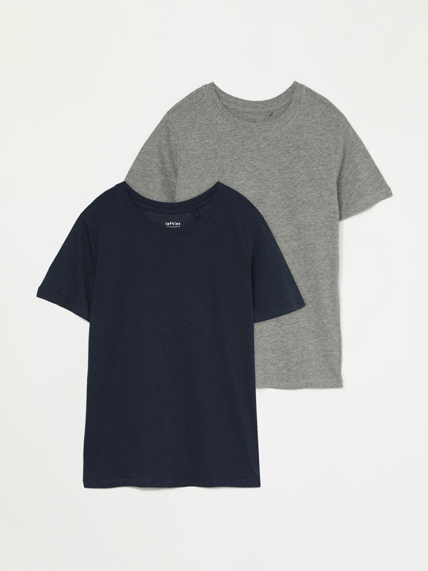 Pack of 2 basic round neck T-shirts