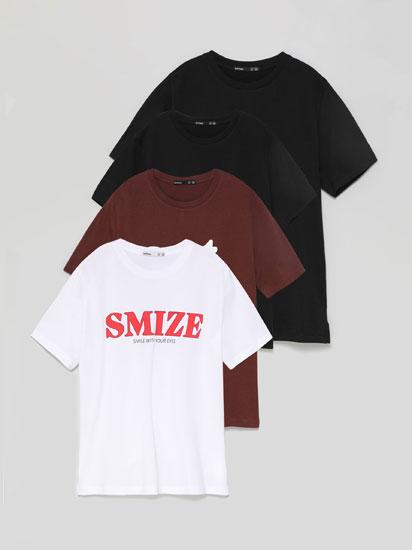 Pack de 4 t-shirts estampadas