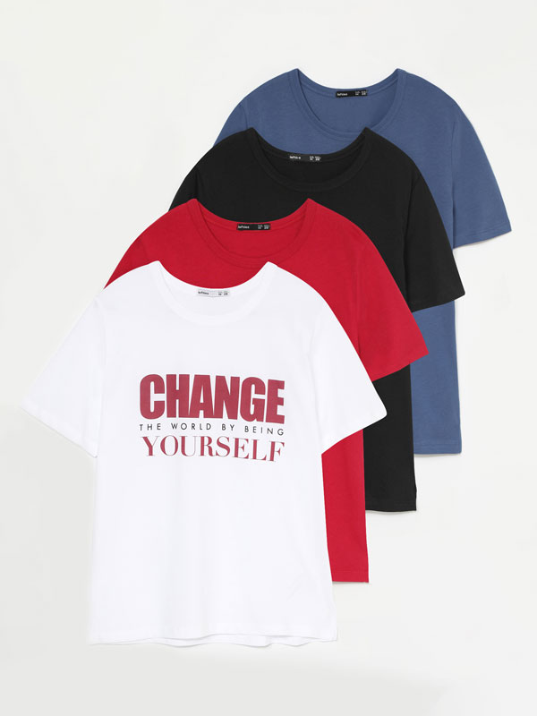 4-Pack of printed T-shirts