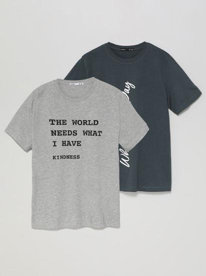 Paquet de 2 samarretes estampades