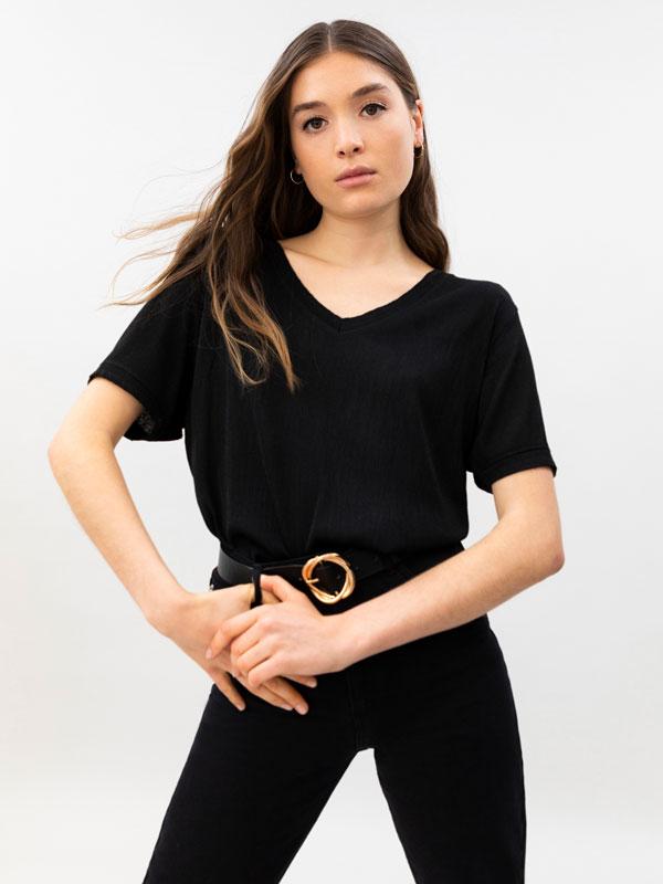 T-shirt com textura