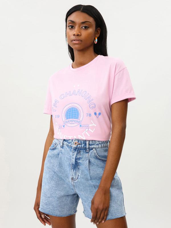 Camiseta oversize estampada
