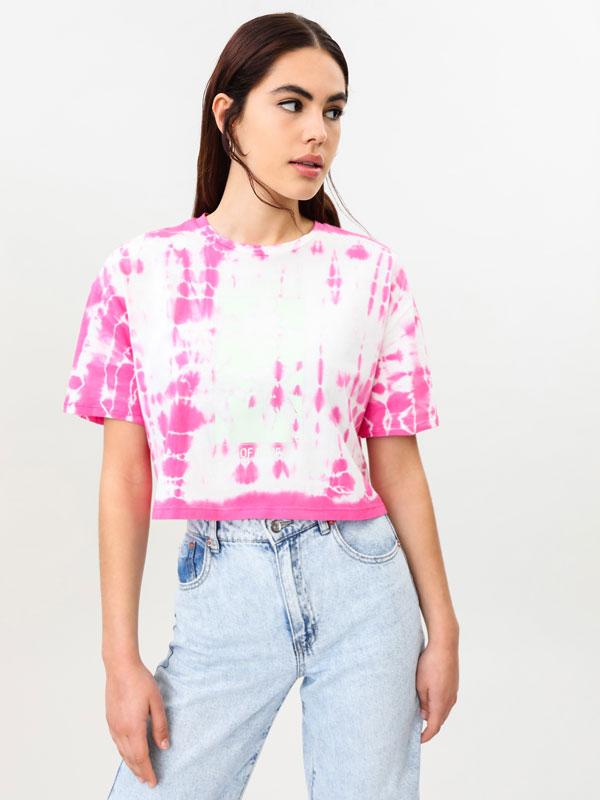 Camiseta con estampado tie - dye