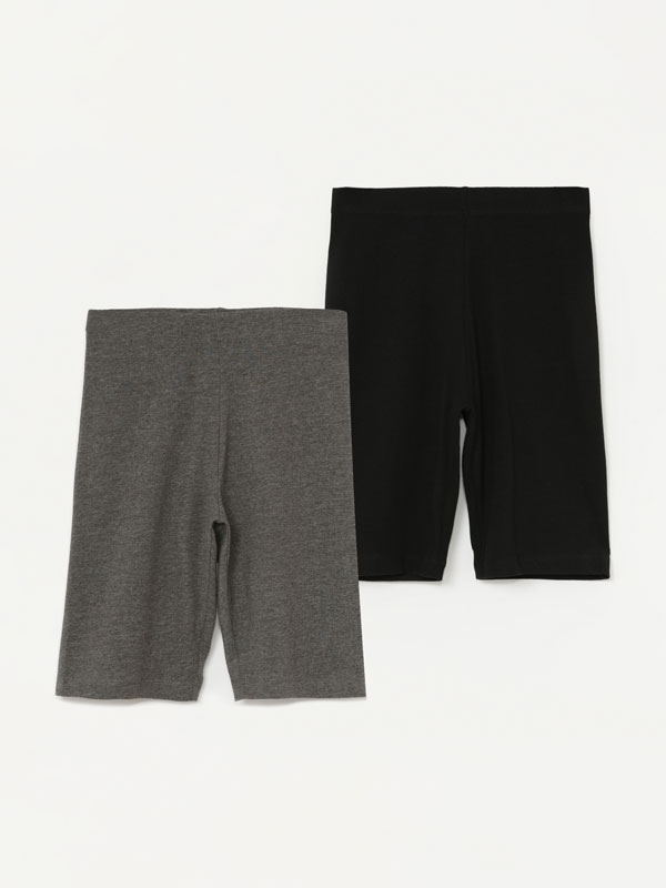 Pack of 2 pairs of cycling leggings