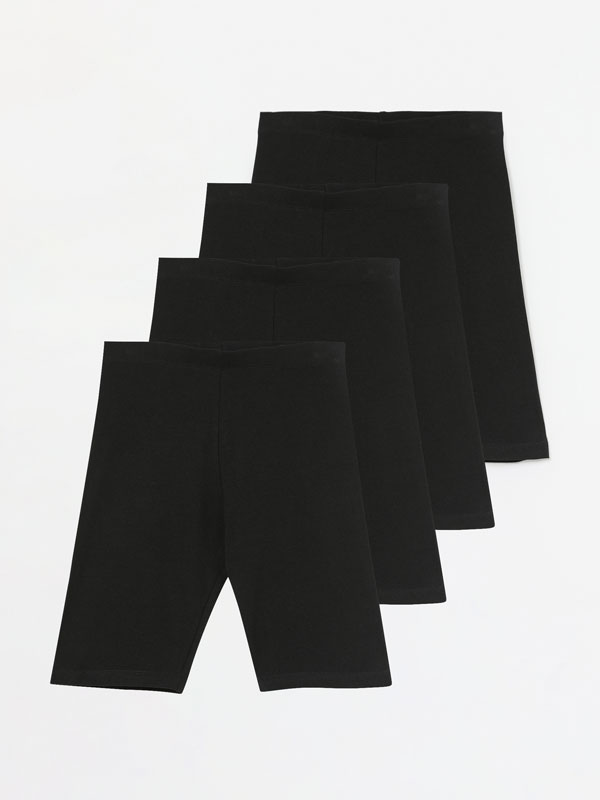 Pack of 4 pairs of cycling leggings