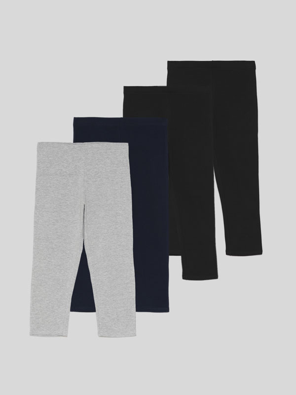 Paquet de 4 leggings curts