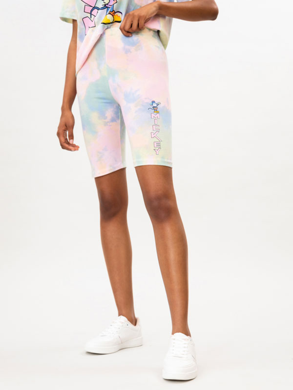 Tie-dye cycling leggings with Mickey Mouse ©Disney print