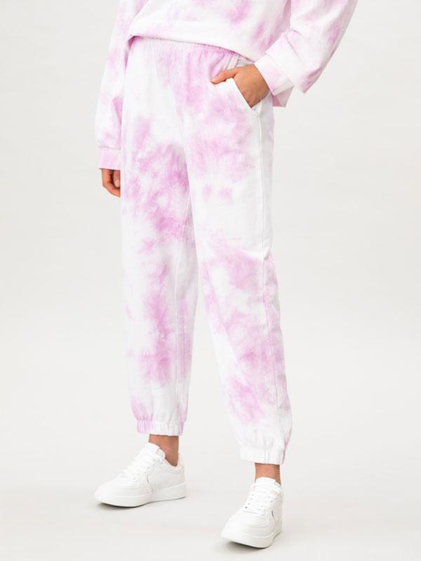 Tie-dye print tracksuit trousers